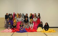 Folklorico dance team and the dresses they practice in.